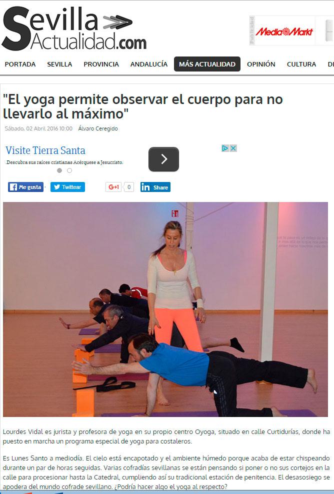 Sevilla actualidad Yoga